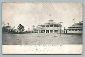 Bay Shore Park BALTIMORE Maryland Antique Postcard 1907