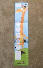 Rare New Toys R Us Babies R Us Geoffrey Giraffe Kids Toddler Growth Chart Sheet