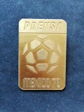 Vintage mexican Badge pin Press participant FIFA football World cup Mexico 70