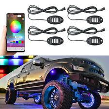 4x RGB LED Car Truck Under Fender Light Kit Neon Atmosphere Lamp Bluetooth APP