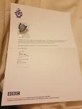 Official BBC Blue Peter Badge & Original Letter  Genuine Silver Badge