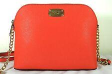 Michael Kors Jet Set Cindy Saffiano Leather Large Crossbody Bag in Orange Sienna