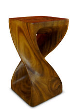 Table Solid Wood Side 30 19 11/16in Stool Columns Night Living Room