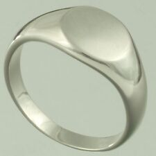 Silver Filled Plain Signet Ring Mens Women Wedding Pinky Band Sizes R W X Y  NEW