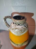 Vtg 60s/70s VASE Jug Scheurich West Germany  Glaze German Pottery 484-27