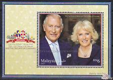 [SS] Malaysia 2017 Royal Visit Prince Charles of Wales M/S