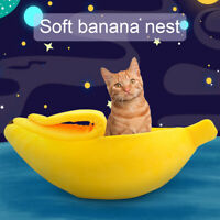 Cute Banana Dog Cat Nest Pet Puppy Warm Bed House Sleeping Cushion Kennel Sofa