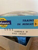 HO Scale Athearn Blue Box Rock Island 50' Gondola Car Kit #1651 NOS
