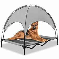 """New listing Zoomos Petok 48"""" Elevated Dog Bed Large with Removable Canopy Breathable Oxfo."""