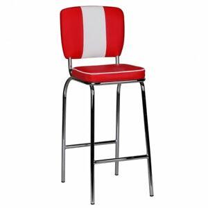 Wohnling Barstuhl American Diner 50er Retro Rot Weiß Barhocker Tresenstuhl