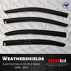 Weathershields Window Visors for Ford Falcon FG FG-X 2008-2019 Sedan 4pcs Tinted