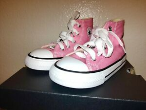 NEW INFANT TODDLER CONVERSE CHUCK TAYLOR ALL STAR HI high Top  PINK size 8 new