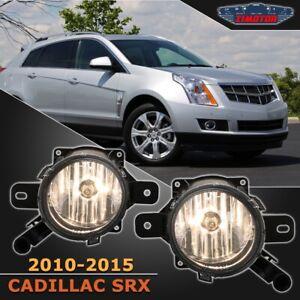 Fit Cadillac SRX 10-15 Clear Lens Pair Bumper Fog Light Lamp Replacement