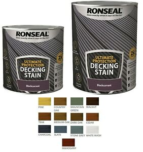 Ronseal 2.5L, 5L Ultimate Protection Decking Stain Rich Colour Extra Tough Paint