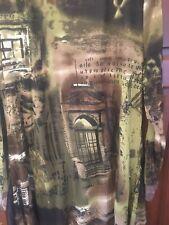 Samya Olive Green Boho Patchwork Zip Patch Dress Size 22 RRP £35