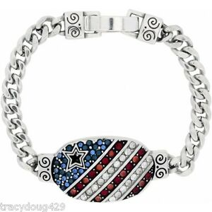 BRIGHTON AMERICANA FLAG I.D. BRACELET Show Your Love of Country! NWT