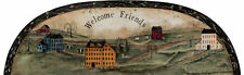 York Primative Style Welcome Friends Arch Scenic Wallpaper Mural HF8548M