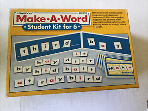 Lakeshore Learning Make-A-Word Building 6 Students Kit Vocabulary Phonics Magnet