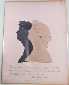 Double Silhouette of Kate Douglas Wiggin by Kate P. Parker 1910 Child Author
