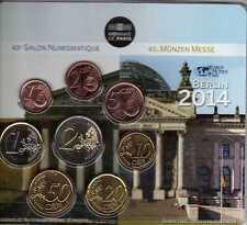 FRANCE Mini Set 8 pièces World Money Fair Berlin  BU 2014 -Tirage 500 ex