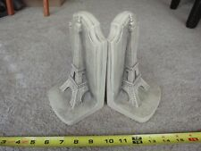 Collectible Eiffel Tower bookends. Aged sculpture look. Tws Bookends. Nice!