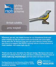 RSPB Pin Badge | Grey Wagtail | GNaH backing card [01179]