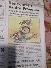 RENCONTRE AVEC ANDRE FRANQUIN - GASTON LAGAFFE - 30/10/1985