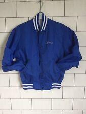 Vintage rétro usa Blue Urban pom-pom girls Nylon Varsity Veste Manteau UK 10 #60