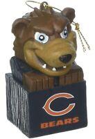 Brand New Chicago Bears Tiki Mascot Christmas Ornament NFL New