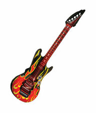 Large Fire Flame Rock Star Inflatable Guitar Kids Birthday Party Favors Bucks