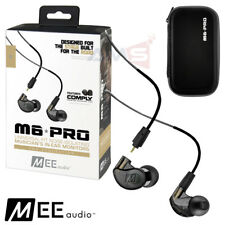 MEE Audio M6 Pro 2nd Generation Noise Isolating Musician's In-Ear Monitors Black