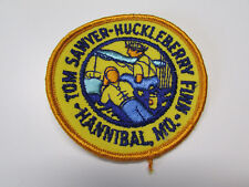 "Tom Sawyer Huckleberry Finn Hannibal Missouri Iron On Emblem Patch 3"" Diameter"