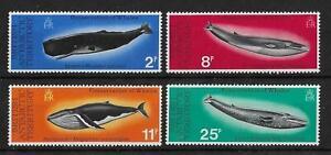(13) BAT 1977 Whales SG79-82 MNH