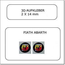 2x 3D AUFKLEBER- FIAT ABARTH Schlüssel Emblem Logo 14mm STICKERS
