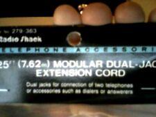 RADIO SHACK 25 FEET  DUAL JACK EXTENSION CORD-  CREAM - 279-363