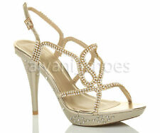 Sandali e scarpe spillo oro per il mare da donna
