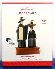 Hallmark 2014 Harry Potter The Sorting Hat Christmas Ornament Sound