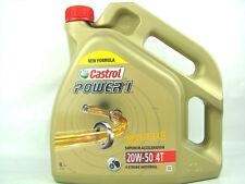 4 Litros Castrol Power1 20w50 4t ACEITE PARA MOTOS DE 20w-50 ma-2 API SJ 4-takt