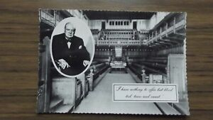 Sir Winston Churchill -I Have Nothing to Offer Valentine Postcard 1965 Unposted