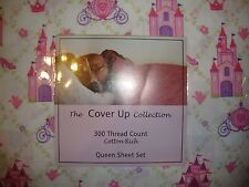 NEW THE COVER UP COLLECTION HAPPY EVER AFTER PRINCESS 4 PIECE QUEEN SHEET SET