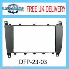 DFP-23-03 Mercedes Benz C-Class Black Fascia Facia Adaptor Panel Surround Stereo