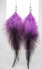 F1273F Multi-Color Feather Earrings Dangle Eardrop Fashion Handmade Jewelry