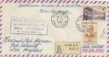 LETTRE PREMIER VOL AIR FRANCE PARIS / LOS ANGELES 4 AVRIL 1960