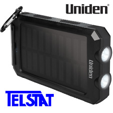 Uniden UPP80S Solar Portable Power Bank Built-in LED Torch, Compass IP54 rated
