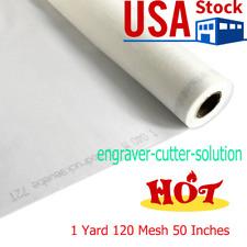 Us 1 Yard Polyester Silk Screen Printing Mesh Fabric 120 Mesh 48t 50 Width
