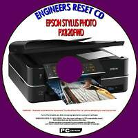 EPSON PX820FWD PRINTER WASTE INK PAD COUNTER RESET REPAIR FIX SOLUTION PCCD NEW