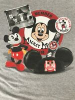 Vintage Disney Men's Large T Shirt Graphic Mickey Mouse Member Club Short Sleeve