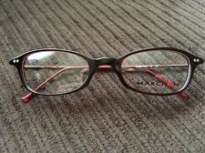 New Marchon 804 605 Maroon Eyeglasses Frame 46▫19 130 Strong Spring Hinges Nice!