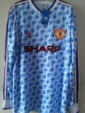 MANCHESTER UNITED 1990-92 AWAY RETRO SHIRT LONG SLEEVE, Size XL 2XL