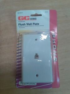 New/Old Stock GC Electronics Single Flush Wall Plate for Phone 30-9717: White